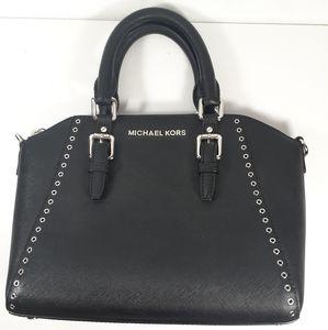 Michael Kors Handbag Mini Black Leather Satchel
